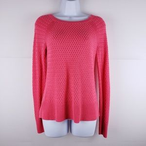 American Eagle Pink Knit Zipper Sweater Size Small